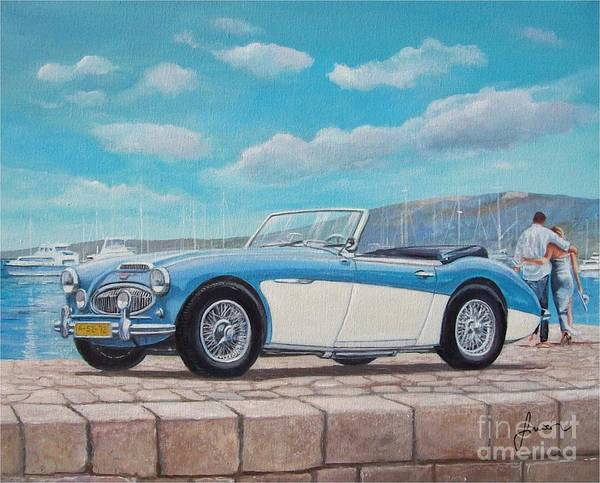 Painting - Austin Healey Bj8 Mark IIi by Sinisa Saratlic