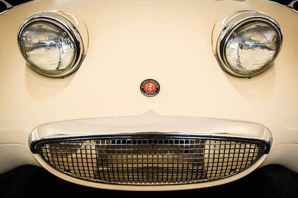 Healey Photograph - Austin Healey Sprite - Bugeyed - Grille Emblem -0046c by Jill Reger