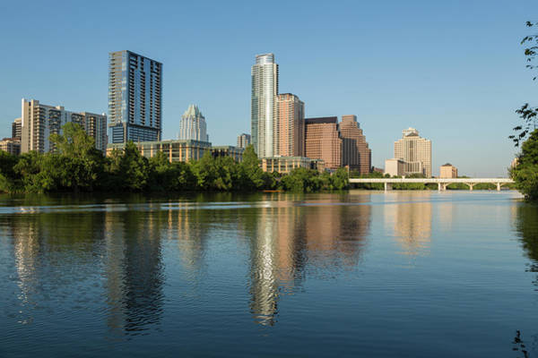 Thompson River Photograph - Austin Skyline And Waterfront by P A Thompson