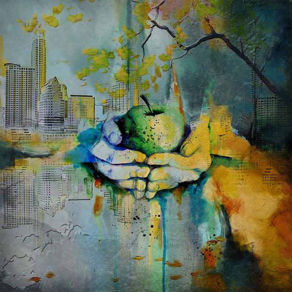 Arlington County Wall Art - Painting - Austin Skyline by Corporate Art Task Force
