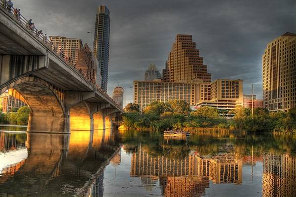 Birds Of Texas Photograph - Austin Skyline by Jane Linders