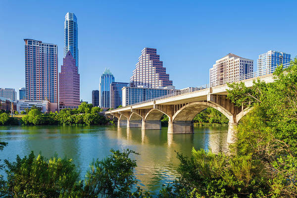 Southern Usa Photograph - Austin Texas Skyline And Congress by Dszc