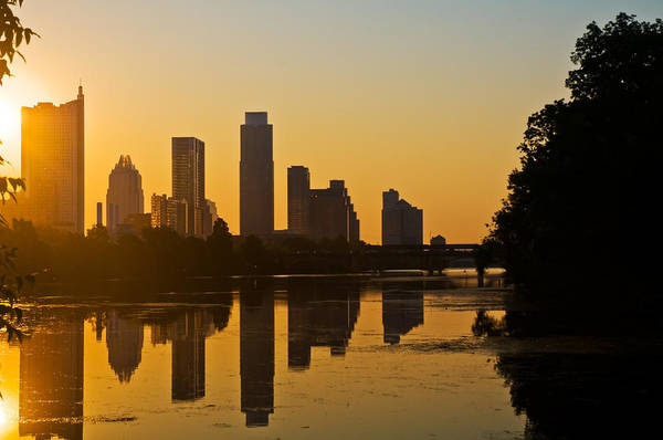 Photograph - Sunrise Over Austin Texas Skyline by Ginger Wakem