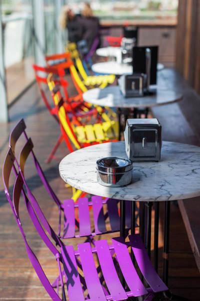 Outdoor Cafe Photograph - Australia, Victoria, Melbourne by Walter Bibikow