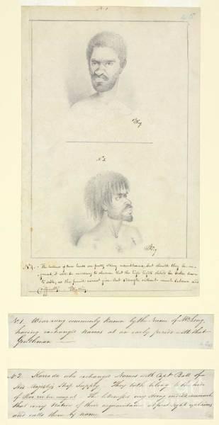 Rungs Wall Art - Photograph - Australian Aborigines, 18th Century by Natural History Museum, London