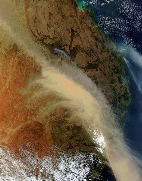 Gold Dust Photograph - Australian Bushfires by Nasa/science Photo Library