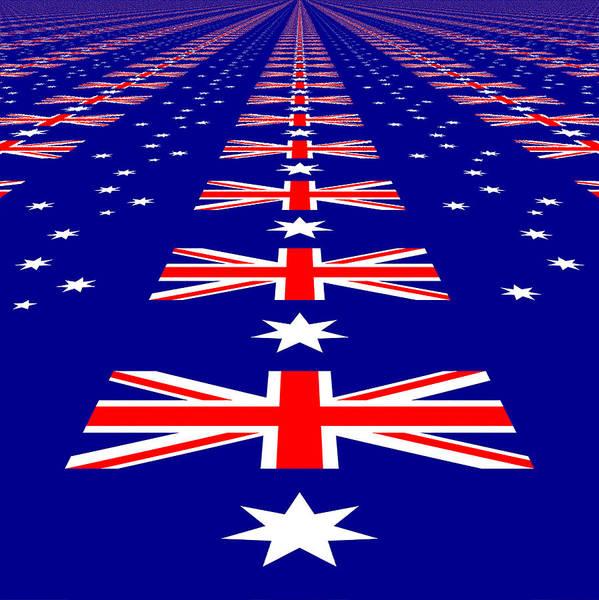 Photograph - Australian Flag Perspective by Kurt Van Wagner