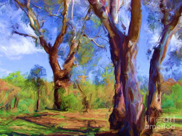 Digital Art - Australian Native Tree 2 by Russell Kightley