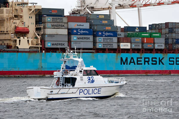 Photograph - Australian Police Patrol Boat by Rick Piper Photography
