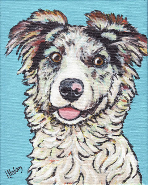 Painting - Australian Shepherd by Greg and Linda Halom
