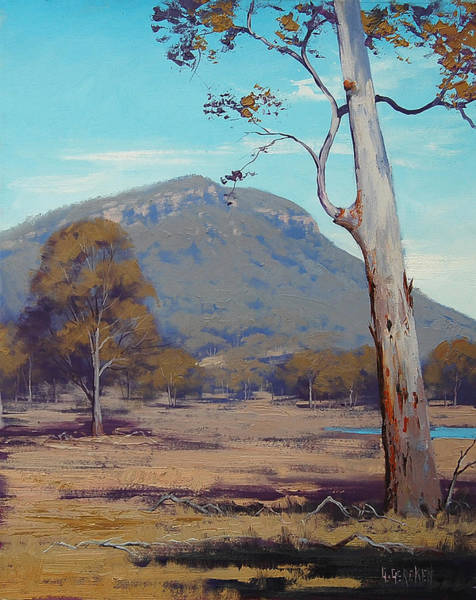 Dam Wall Art - Painting - Australian Summer Landscape by Graham Gercken