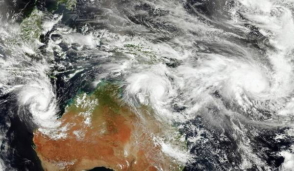 Tropical Cyclone Wall Art - Photograph - Australian Tropical Cyclones by Jesse Allen/suomi Npp/nasa