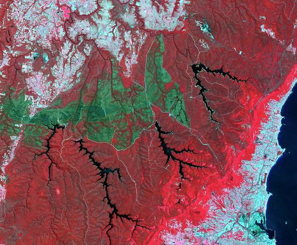 Forest Fire Photograph - Australian Wildfire Scar by Nasa/gsfc/meti/ersdac/jaros/us-japan Aster Science Team