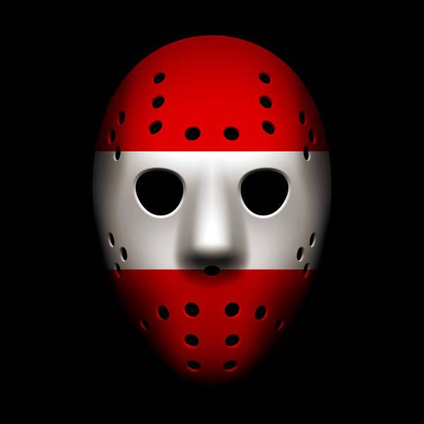 World Championship Photograph - Austria Goalie Mask by Joe Hamilton