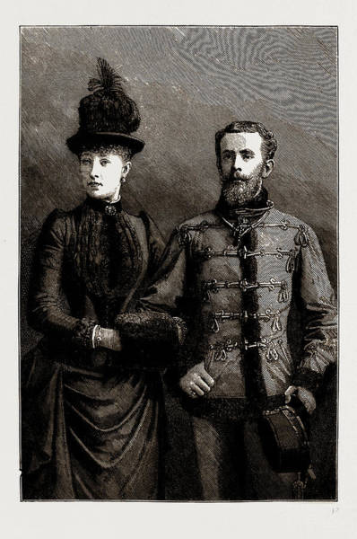 Wall Art - Drawing - Austria-hungary, 1886 The Crown Prince Rudolf And The Crown by Litz Collection