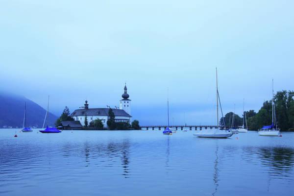 Pier Photograph - Austria, Salzkammergut, Lake Traunsee by Hiroshi Higuchi