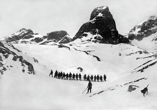 Photograph - Austrian Army Ski Unit by Underwood Archives