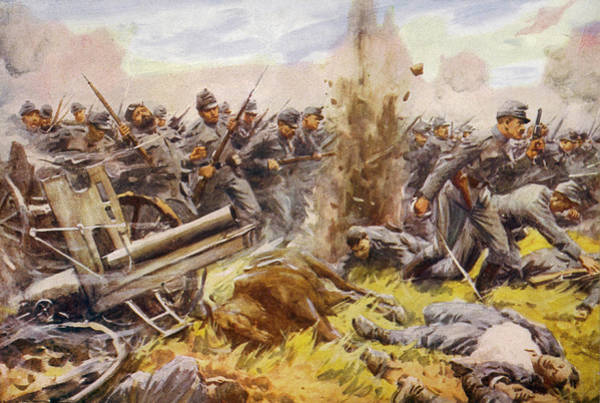 Galicia Drawing - Austrian Forces Advance During  One by Mary Evans Picture Library