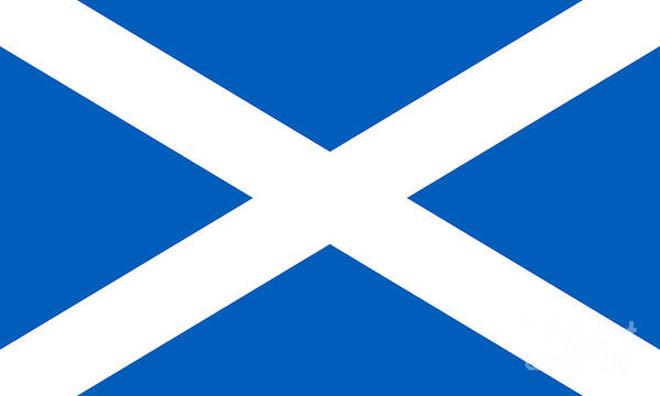 Wall Art - Digital Art - Authentic National Flag Of Scotland by Bruce Stanfield