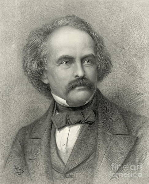 Nathaniel Photograph - Author Nathaniel Hawthorne 1883 by Padre Art