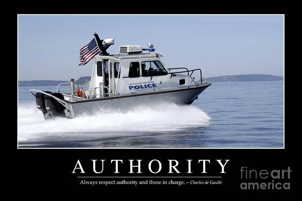 Photograph - Authority Inspirational Quote by Stocktrek Images