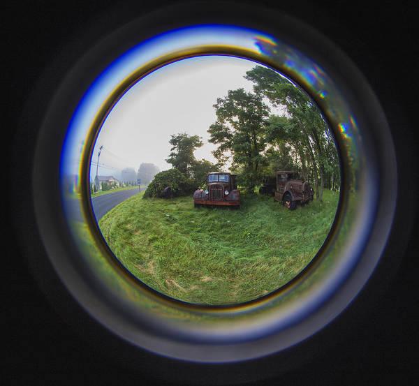 Photograph - Autocar Fisheye by Tom Singleton