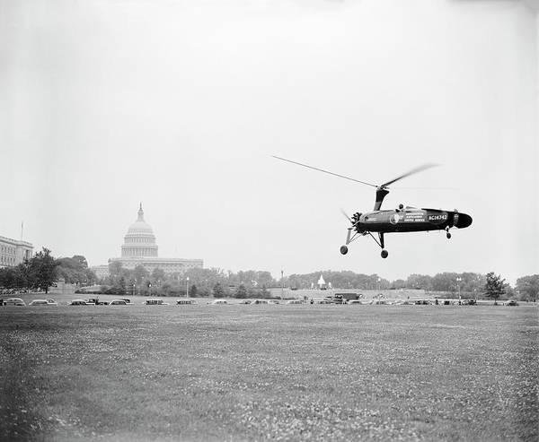 United States Postal Service Photograph - Autogyro Mail Shuttle by Library Of Congress