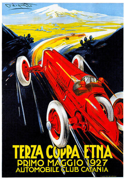 Photograph - Automobile Club Catania by Vintage Automobile Ads and Posters