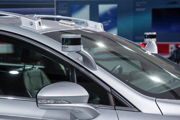 Auto Show Photograph - Autonomous Vehicle Sensors by Jim West/science Photo Library