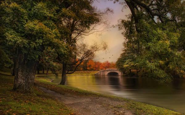 Photograph - Autumn Across The Bridge by Robin-Lee Vieira