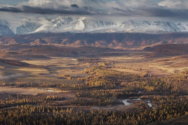 Autumn Altai Mountains Art Print by Dmitry Kupratsevich