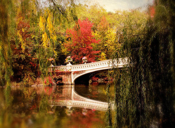 Digital Art - Autumn At Bow Bridge by Jessica Jenney