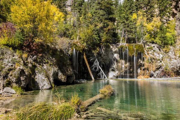 Hanging Rock Photograph - Autumn At Hanging Lake Waterfall - Glenwood Canyon Colorado by Brian Harig