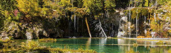 Hanging Rock Photograph - Autumn At Hanging Lake Waterfall Panorama - Glenwood Canyon Colorado by Brian Harig