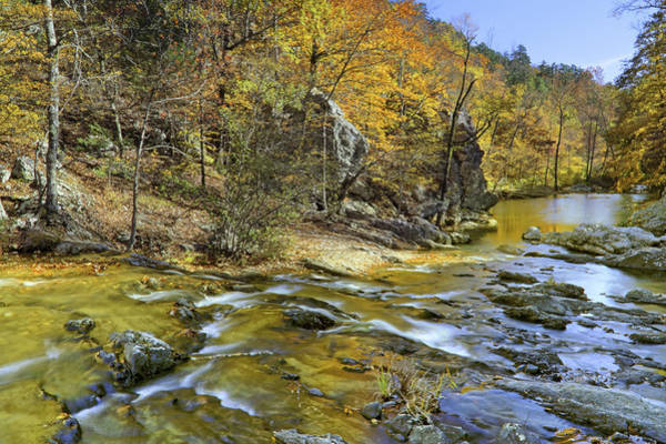 Photograph - Autumn At Little Missouri Falls - Arkansas - Ouachita National Forest by Jason Politte