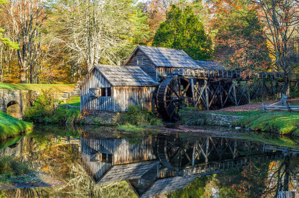 Wall Art - Photograph - Autumn At Mabry Mill by Lori Coleman