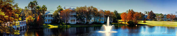 Wall Art - Photograph - Autumn At Old Key West Resort Panorama Walt Disney World by Thomas Woolworth