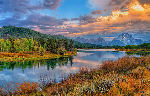 Photograph - Autumn At Oxbow Bend Limited Edition by Greg Norrell
