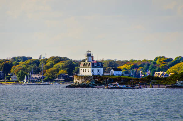 Photograph - Autumn At Rose Island Lighthouse by Bill Cannon
