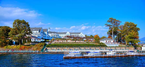 Sagamore Wall Art - Photograph - Autumn At The Sagamore Hotel - Lake George New York by David Patterson