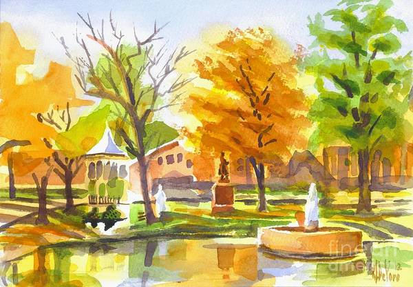 Painting - Autumn At The Villa by Kip DeVore