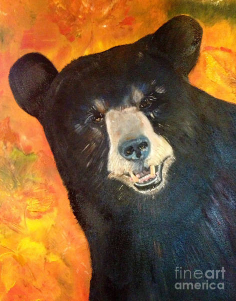 Painting - Autumn Bear by Jan Dappen