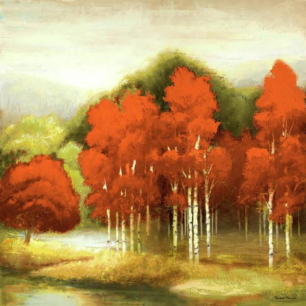 Wall Art - Digital Art - Autumn Birchwood I by Michael Marcon