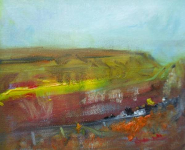 Donegal Painting - Autumn Bog by Mary Feeney