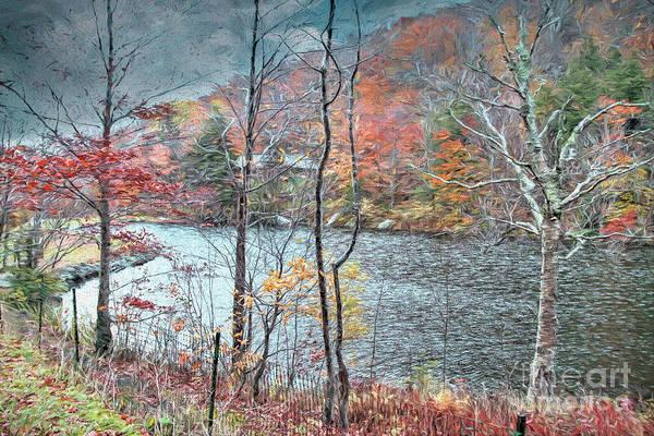 Painting - Autumn By The Lake by Deborah Benoit
