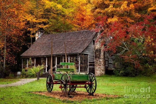 Photograph - Autumn Cabin by Deborah Scannell