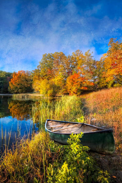 Wall Art - Photograph - Autumn Canoe by Debra and Dave Vanderlaan