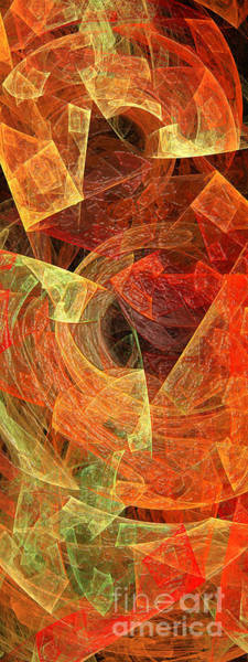 Digital Art - Autumn Chaos by Andee Design