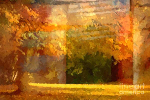 Late Autumn Wall Art - Painting - Autumn Colors Painterly by Lutz Baar