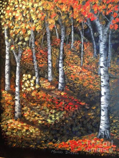 Painting - Autumn Colours By Monika Dickson by Monika Shepherdson